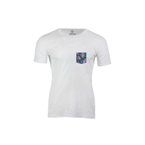 Pánské bílé tričko Flowpocket