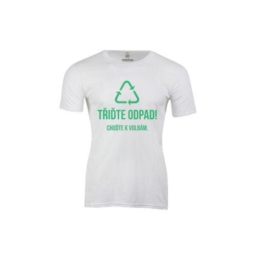 Pánské tričko Třiďte politický odpad