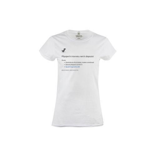 Dámské vtipné tričko Nejde internet