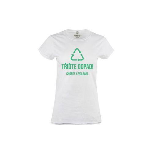Dámské tričko Třiďte politický odpad