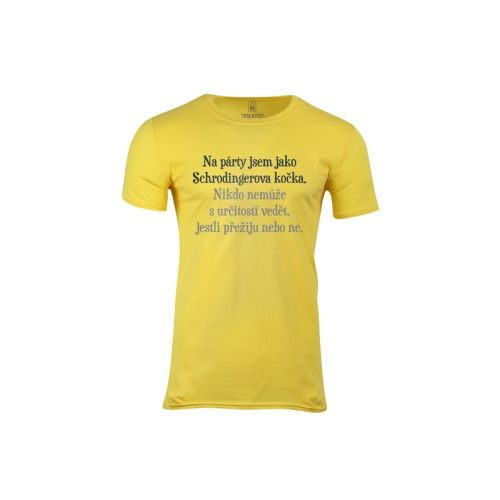 Pánské tričko Schrodingerova kočka na párty