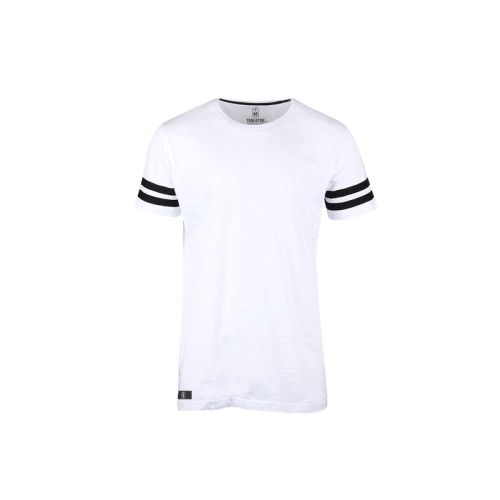 Pánské bílé tričko s pruhy