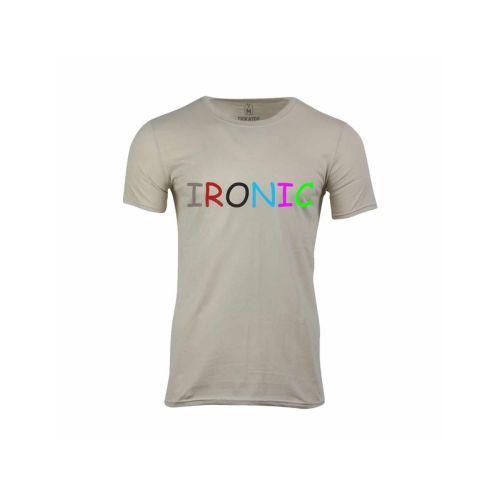 Pánské tričko s nápisem Ironic