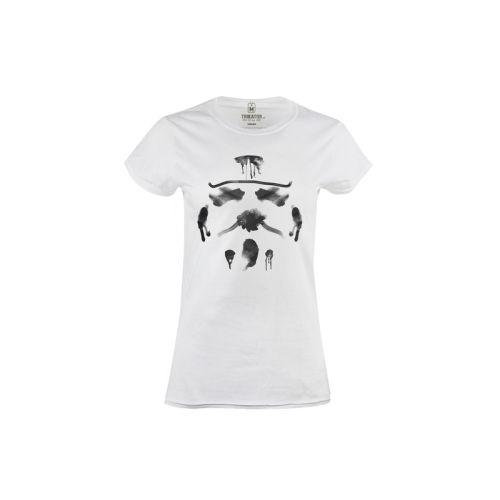 Dámské bílé tričko Rorschach Stormtrooper