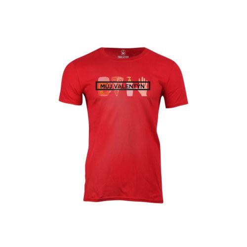 Pánské červené tričko Můj valentýn