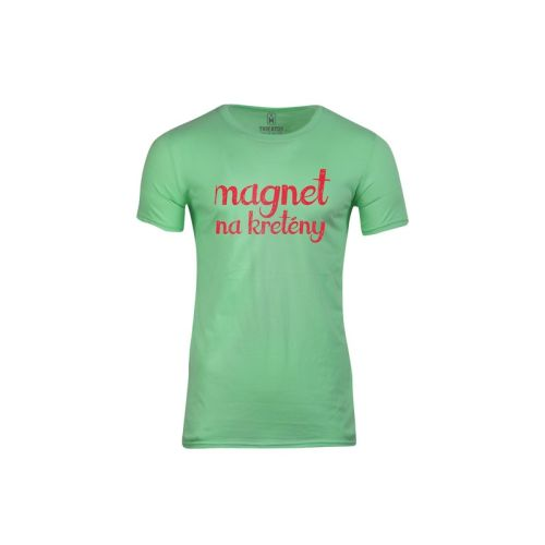 Pánské vtipné tričko Magnet na kretény (dámské)