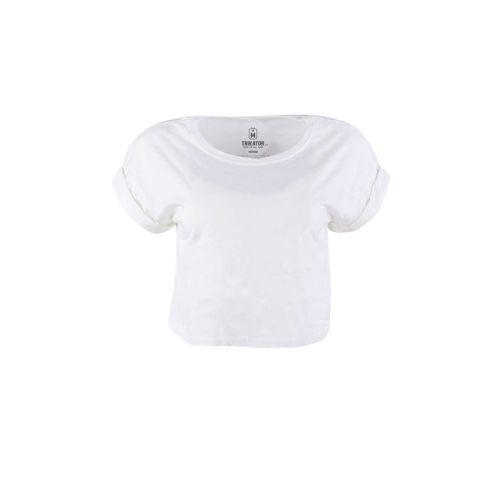 Dámské bílé tričko Crop