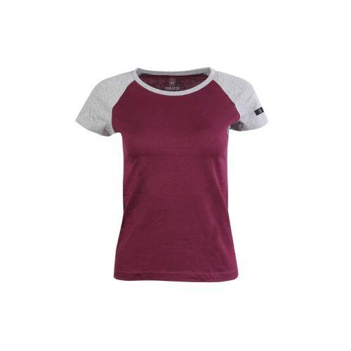 Dámské vínové tričko Raglan