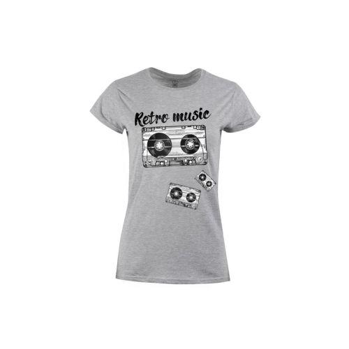 Dámské tričko Retro hudba
