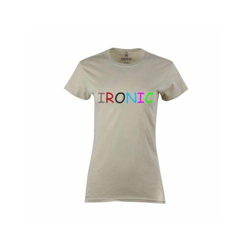Dámské tričko s nápisem Ironic