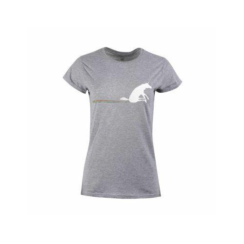 Dámské tričko Duha za jednorožcem