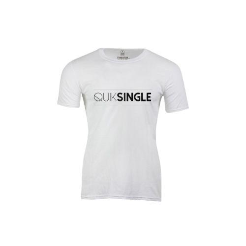 Pánské bílé tričko Quiksingle
