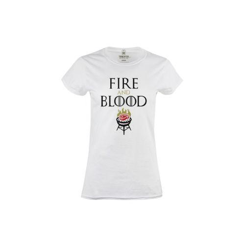 Dámské tričko Oheň a krev