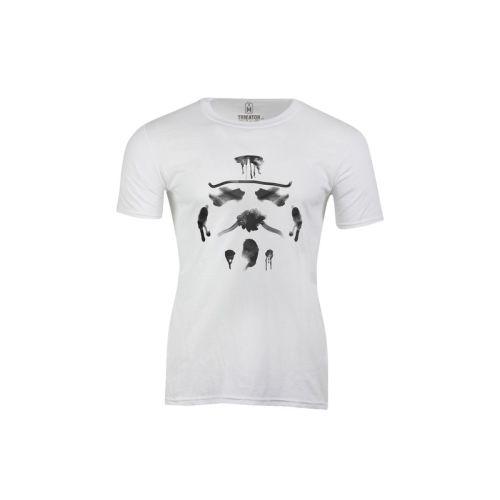Pánské bílé tričko Rorschach Stormtrooper