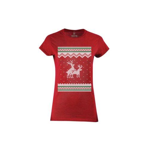 Dámské červené tričko Rozdivočelí sobi