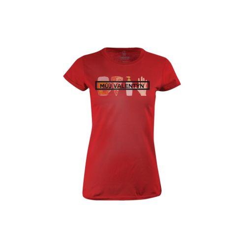 Dámské červené tričko Můj valentýn