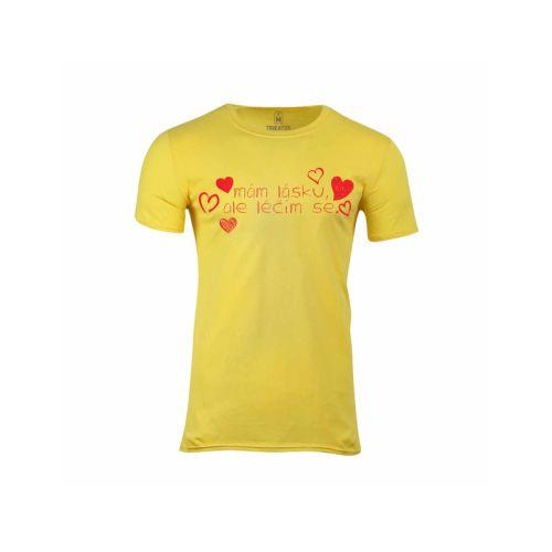 Pánské tričko Mám lásku, ale léčím se