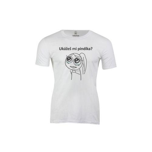 Pánské tričko Ukážeš mi pindíka?