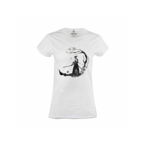 Dámské bílé tričko Samuraj
