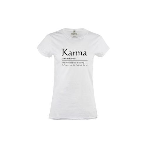 Dámské bílé tričko Karma