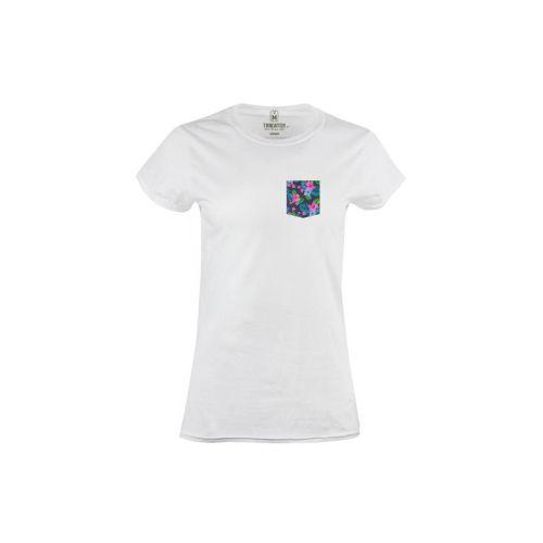 Dámské bílé tričko Flowpocket