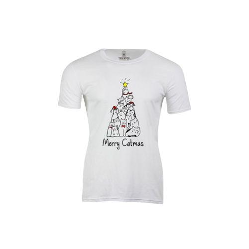 Pánské vtipné tričko Merry Catmas