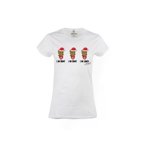 Dámské tričko Groot jako Santa