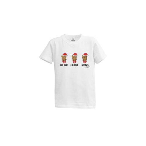 Dětské tričko Groot jako Santa