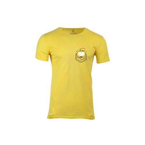 Pánské žluté tričko s kapsozadečkem