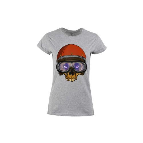 Dámské tričko Lebka s helmou