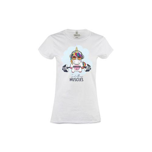 Dámské tričko Jednorožec kulturista