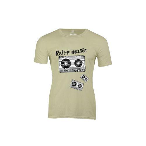 Pánské tričko Retro Kazety sage green