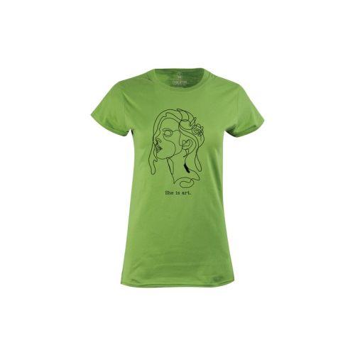 Dámské tričko She is Art kiwi
