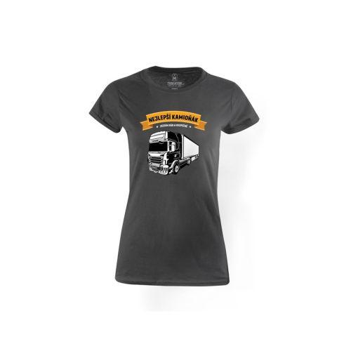 Dámské tričko Nejlepší Kamioňák