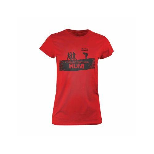 Dámské vtipné tričko Rum nebo run