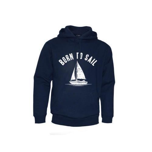 Tmavě modrá mikina Born to Sail (unisex)