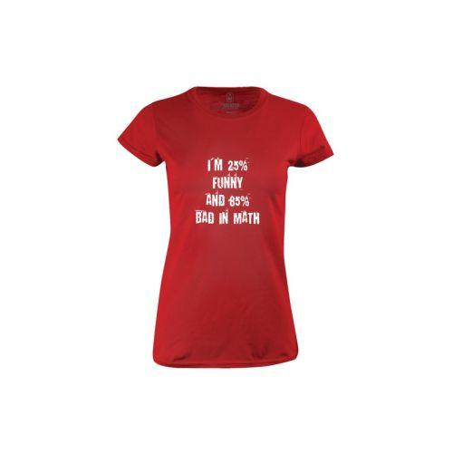 Dámské tričko Borec na matiku