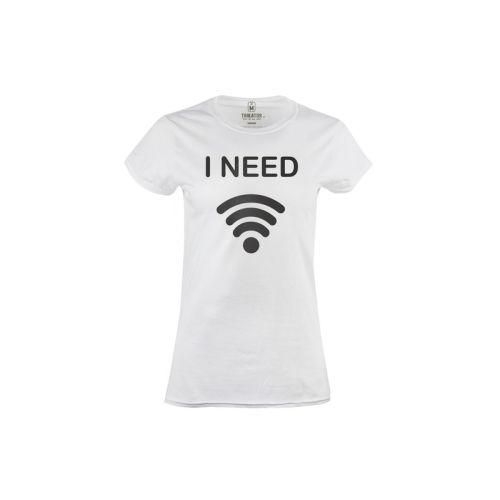 Dámské tričko Potřebuji wi-fi