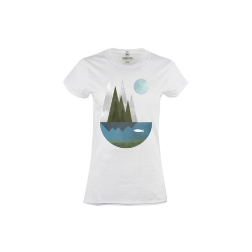 Dámské tričko Ryba a měsíc
