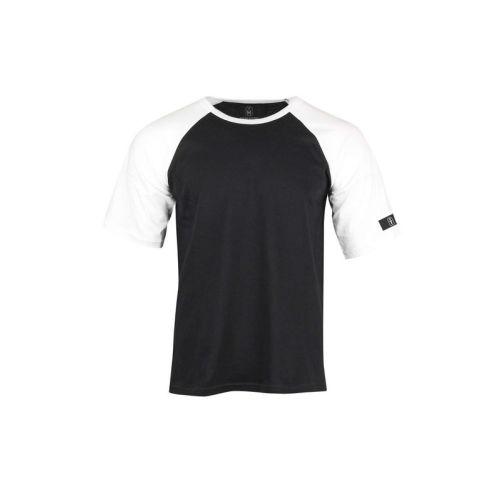 Pánské černobílé tričko Raglan