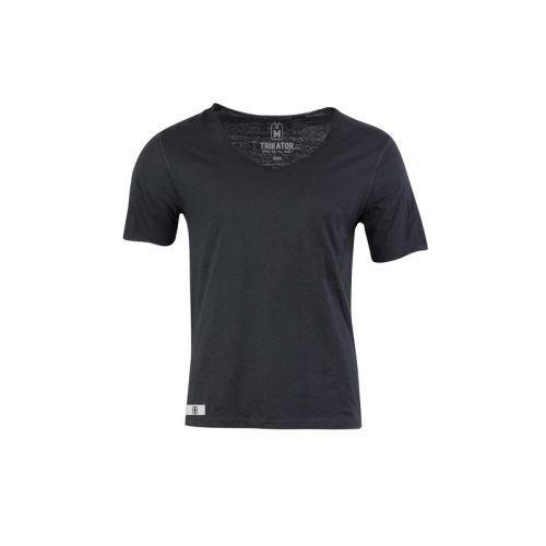 Pánské široké černé tričko