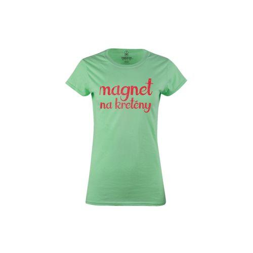Dámské vtipné tričko Magnet na kretény (dámské)