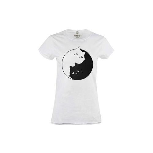 Dámské tričko Kočičí Jinjang