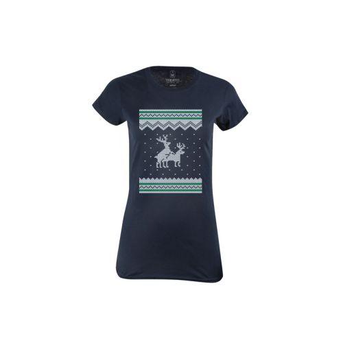 Dámské modré tričko Rozdivočelí sobi