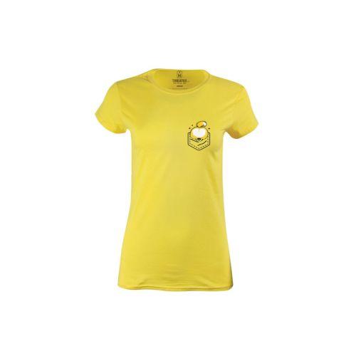 Dámské žluté tričko s kapsozadečkem