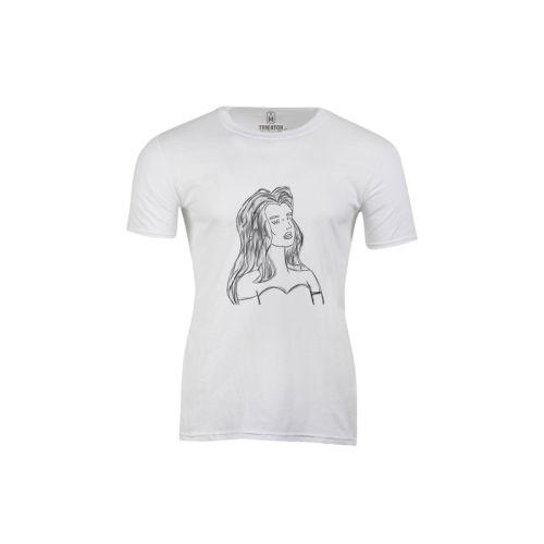 Pánské bílé tričko Wifi žena