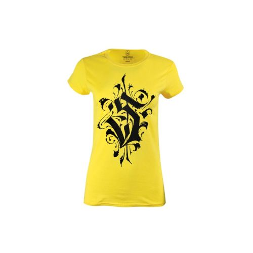 Dámské žluté tričko s písmenem S