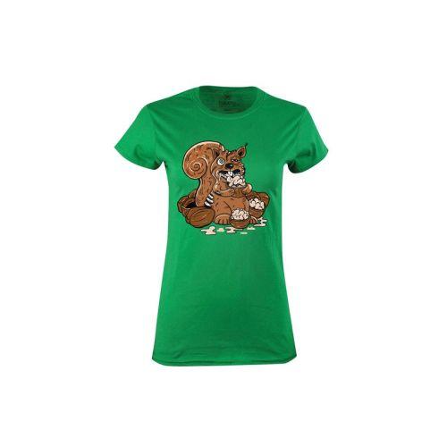 Dámské tričko Veverka mozkožrout