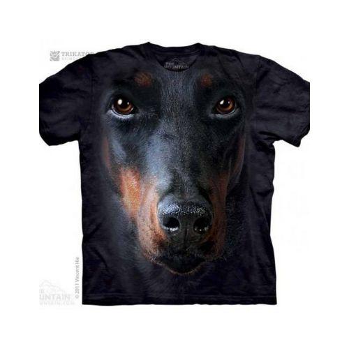 Fotorealistické tričko Dobrman