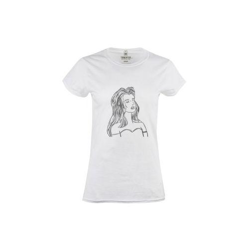 Dámské bílé tričko Wifi žena
